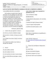 PROVA DE PORTUGUES - 3º TRIM. 3] ANO.doc