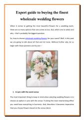 Expert guide to buying the finest wholesale wedding flowers.pdf
