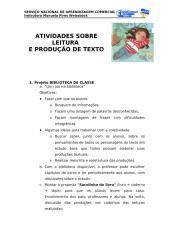 ATIVIDADES SOBRE LEITURA E PRODUÇÃO DE TEXTO.doc