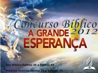 Concurso Bíblico 2012 - 28.ppt