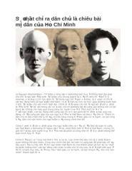 Sự thật chỉ ra dân chủ là chiêu bài mị dân của Hồ Chí Minh.docx