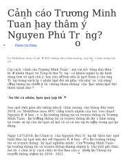Cảnh cáo Trương Minh Tuấn hay thâm ý Nguyễn Phú Trọng.docx