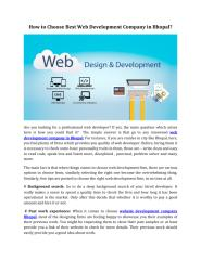How to Choose Best Web Development Company in Bhopal.pdf