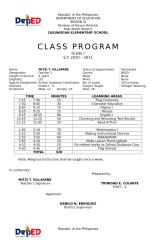 CLASS PROGRAM 2009.doc