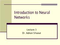 Introduction to Neural Networks - Lecture3.pdf