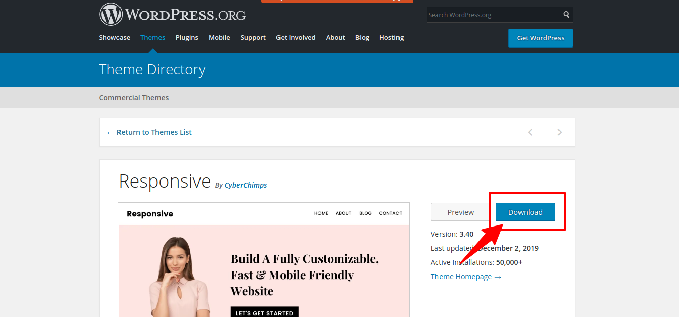 How to build WordPress website with Responsive theme