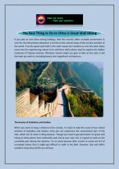 The Best Thing to Do In China Is Great Wall Hiking.pdf