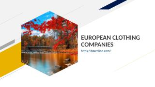 EUROPEAN CLOTHING COMPANIES.ppt