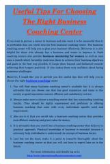 Useful Tips For Choosing The Right Business Coaching Center.pdf