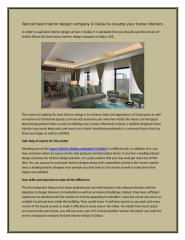 Recruit best interior design company in Dubai to revamp your home interiors.docx