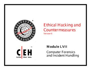 cehv6 module 57 computer forensics and incident handling.pdf