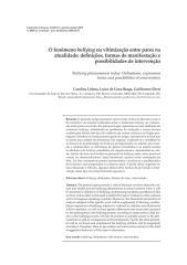 o fenômeno bullying ou vitimização entre pares na atualidade - definições, formas de manifestação e possibilidades de intervenção.pdf